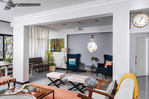 Transitional Living Room by Weespaces