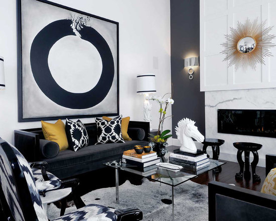 Black And White Gold Living Room