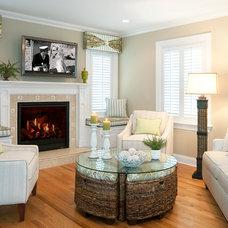 Beach Style Living Room by Nancy Lucas, Decorating Den Interiors, Sea Girt NJ
