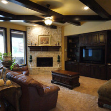Traditional Living Room by Victor Myers Custom Homes & Real Estate