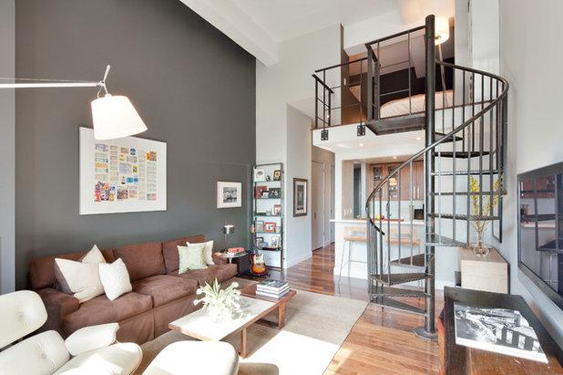 Contemporary Living Room by Maneli Wilson Interiors