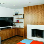 Downtown Condo Contemporary Living Room Wichita By