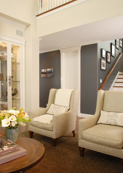 Transitional Living Room by Annette English & Associates