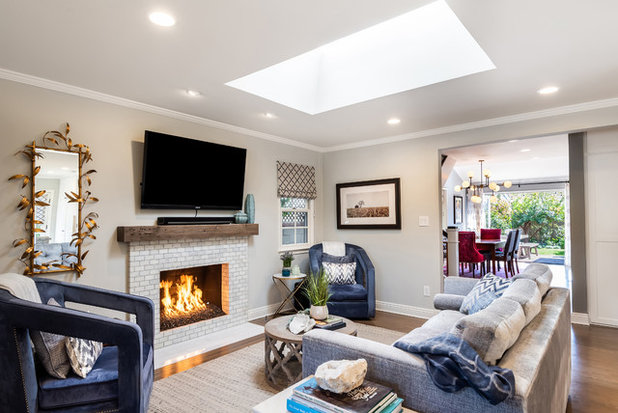Transitional Living Room by Hudson Home