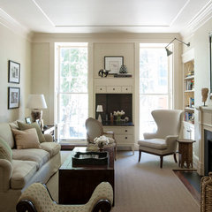 traditional living room by Christine Markatos Design