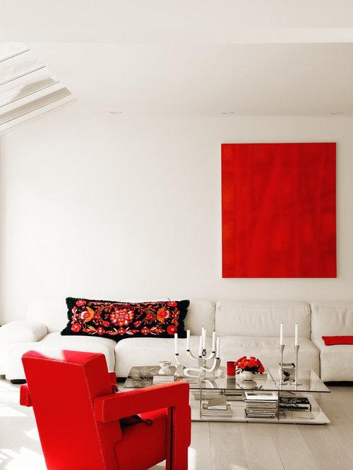 photos et id es d co de pi ces vivre scandinaves rouges. Black Bedroom Furniture Sets. Home Design Ideas