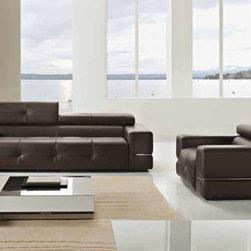 Manhattan Sofa - Premium Italian sofa and armchair with adjustable headrest.  Made in Italy