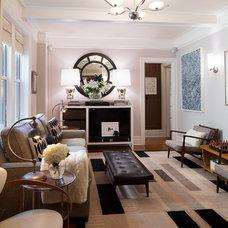 Contemporary Living Room by Virginia Bishop Interiors