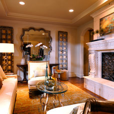Mediterranean Living Room by Dallas Design Group, Interiors