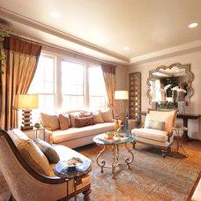 Mediterranean Living Room by Dallas Design Group, Interiors