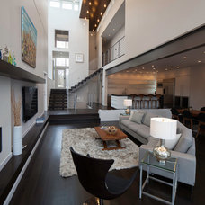 Contemporary Living Room by Faust Construction