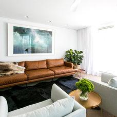 Contemporary Living Room by C+M Studio