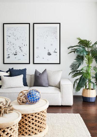 Coastal Living Room by Advantage Interior Design