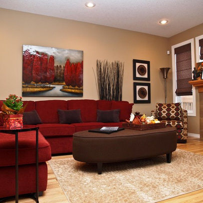 Red sofa living room couches and red couch decorating on for Red living room ideas