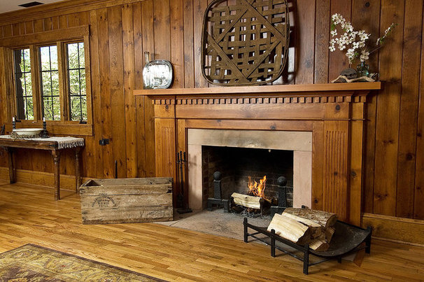 Traditional Living Room by Brookstone Builders