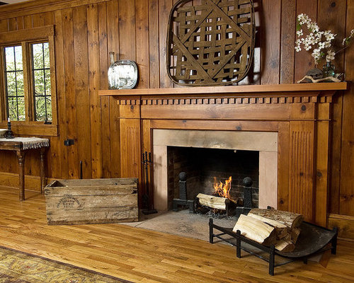 Traditional Knotty Pine Paneling Home Design, Photos & Decor Ideas