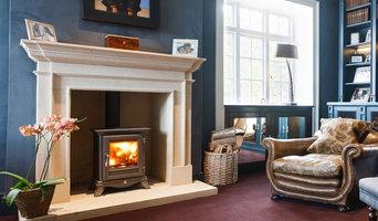 Manor House Heddington Bath stone fireplace