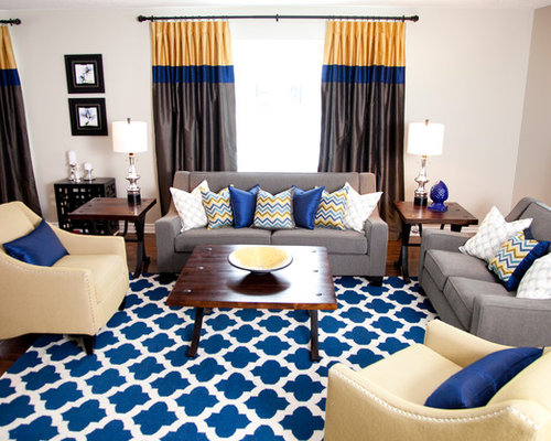 saveemail blue yellow living room