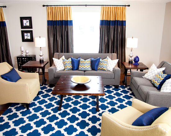 Living Room Colors Blue Grey blue grey yellow | houzz