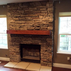 Mantel - This Beam is from a Cabin built in 1860 that was torn down and logs saved to be repurposed.