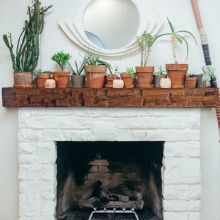 Mantel Ideas   Wooden Beam Mantel   Eclectic Home Style