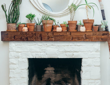 Mantel Ideas | Wooden Beam Mantel | Eclectic Home Style