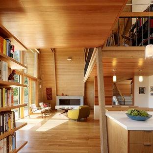 Living room - modern open concept living room idea in San Francisco