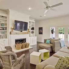 Beach Style Living Room by J4 Construction