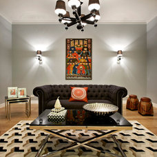 eclectic living room by A Sense of Style