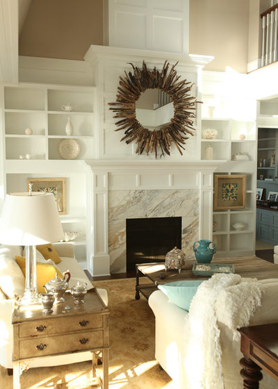 Transitional Living Room by Signature Design & Cabinetry LLC