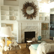 eclectic living room by Signature Design & Cabinetry LLC