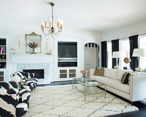 Black And White And Gold Living Room black white gold | houzz