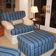 Beach Style Living Room by lmk interiors, ltd.