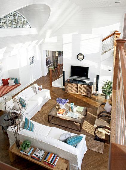 Beach Style Living Room by Terrat Elms Interior Design