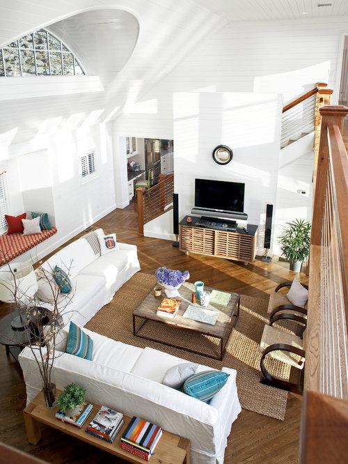 SaveEmail - White Slipcovered Sofa Houzz