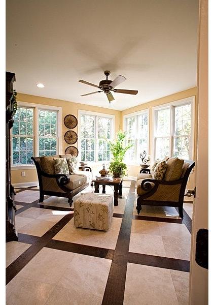 Tropical Living Room by Marcia Goldman