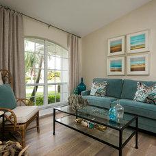 Beach Style Living Room by Stonebreaker Builders & Remodelers