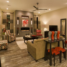 Contemporary Living Room by Margie Wright