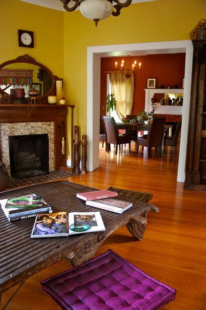Tropical Living Room by Marie Burgos Design