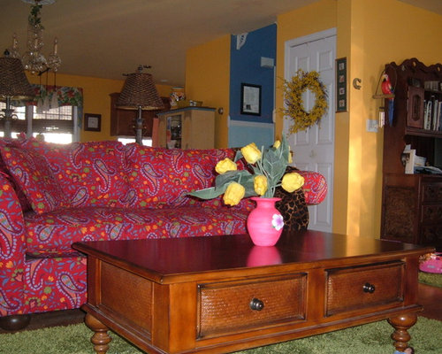 Marie 39 s vibrant caribbean living room design for 526 salon st paul