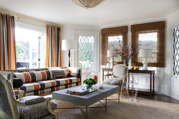 Transitional Living Room by Laura Hunt Design