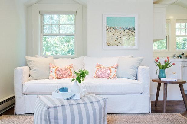 Transitional Living Room by Braun + Adams Interiors