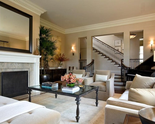 living room crown molding houzz