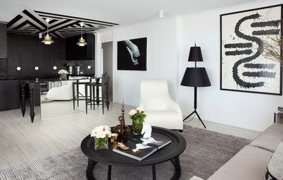 Visite Privée : Un appartement noir et blanc