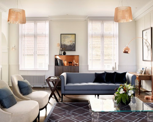 Design Ideas For A Traditional Formal Enclosed Living Room In Surrey With White Walls