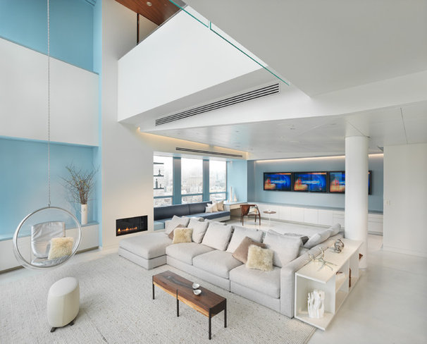 Modern Living Room by Winder Gibson Architects