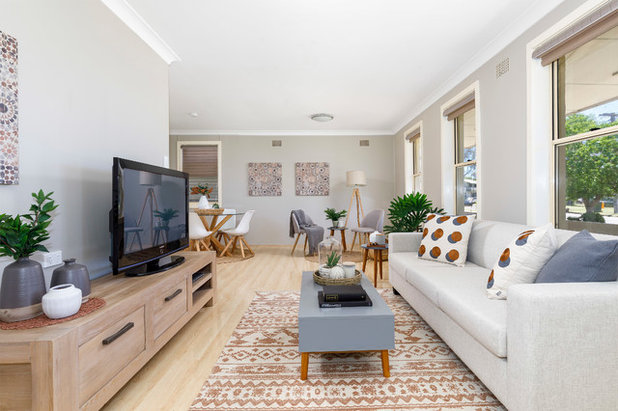 Transitional Living Room by Homes On Trend - Property Styling