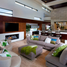 Contemporary Living Room by Omega Products Intl