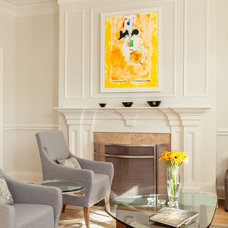 Transitional Living Room by Joseph Ferraro Photography
