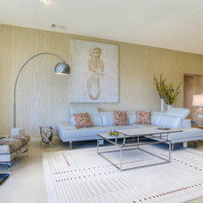 Midcentury Living Room by Eve Remer Interior Design & Decorating